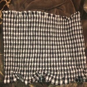 Heart & Hips Tops - Black and white checkered tube top